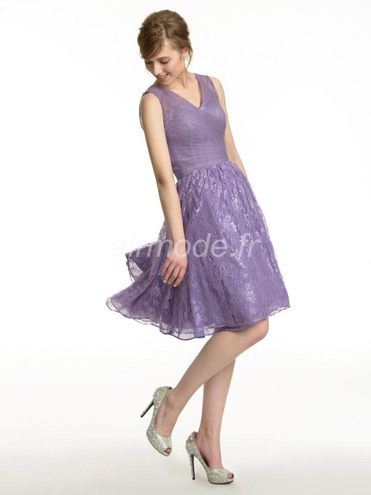 Robe de cocktail violette