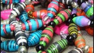 ► How To Make Paper Beads - Craft Tutorial 6, via YouTube.
