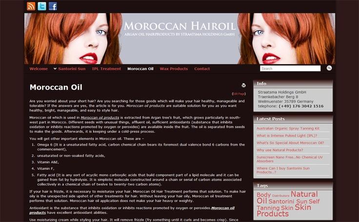 Webshop voor Santorini Europe, organische selftanning products op www.santorinisun.eu.