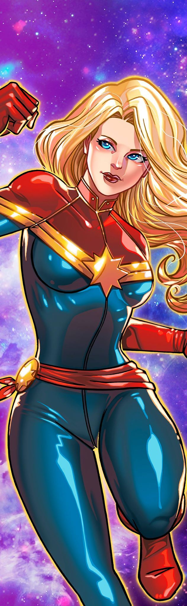 Captain Marvel Panel Art 2 by RichBernatovech.deviantart.com on @DeviantArt