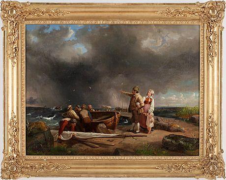 "Bengt Nordenberg, Blekinge. ""Stormen nalkas""."