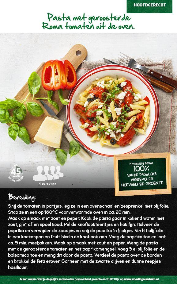 Recept voor pasta met geroosterde Roma tomaten uit de oven #Lidl