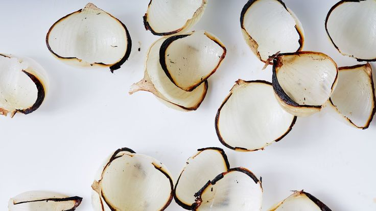 Charred onions offer the best of three worlds: a slightly bitter taste (in a good way), caramelized edges, and crunchy-sweet flesh. If you want to eat them like potato chips, we won't tell.