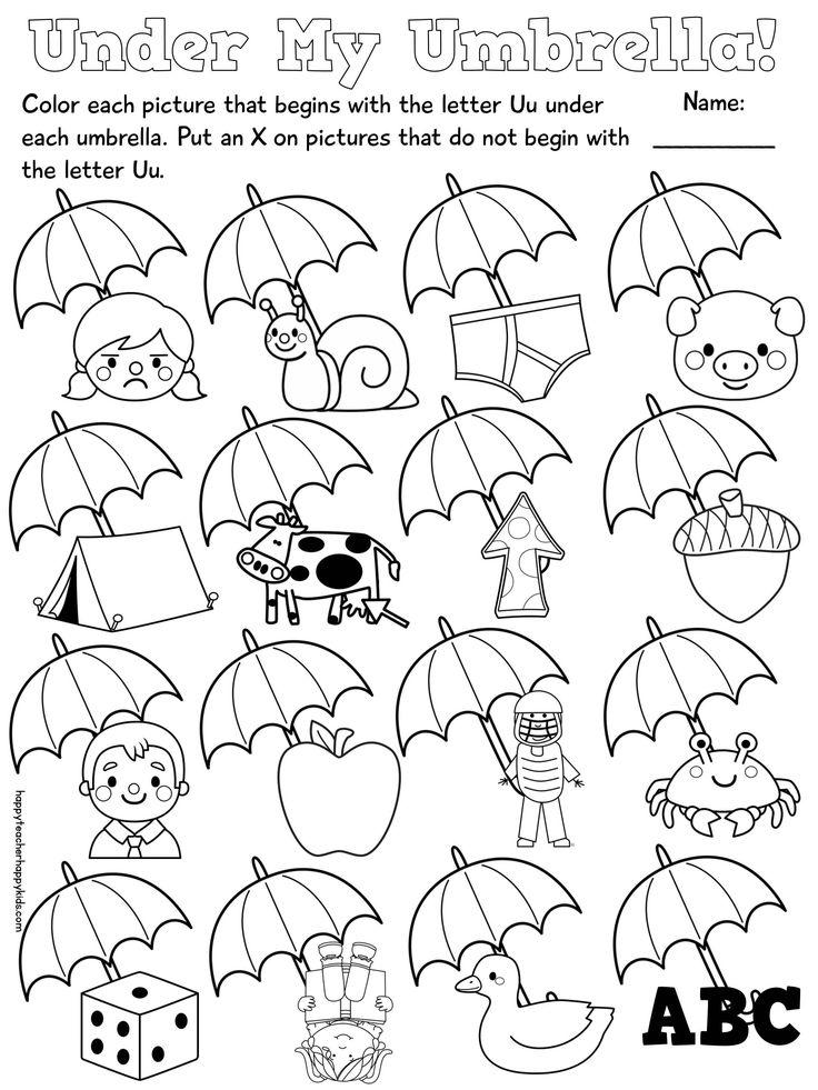 Jolly Phonics Worksheets for Kindergarten Letter U in 2020