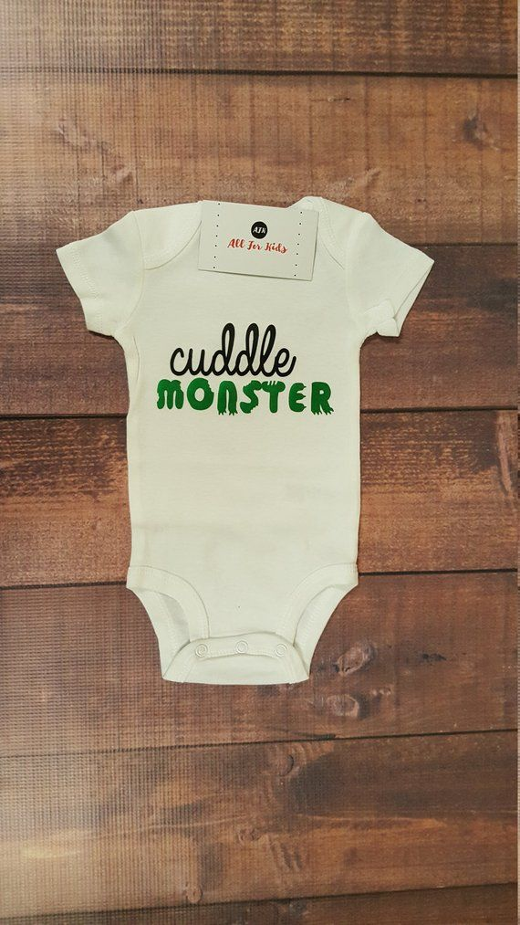 c5038d2f2 Cuddle Monster Bodysuit If you want to add a name or phrase there is a  charge per letter, please complete your order in the custom order blue bar.