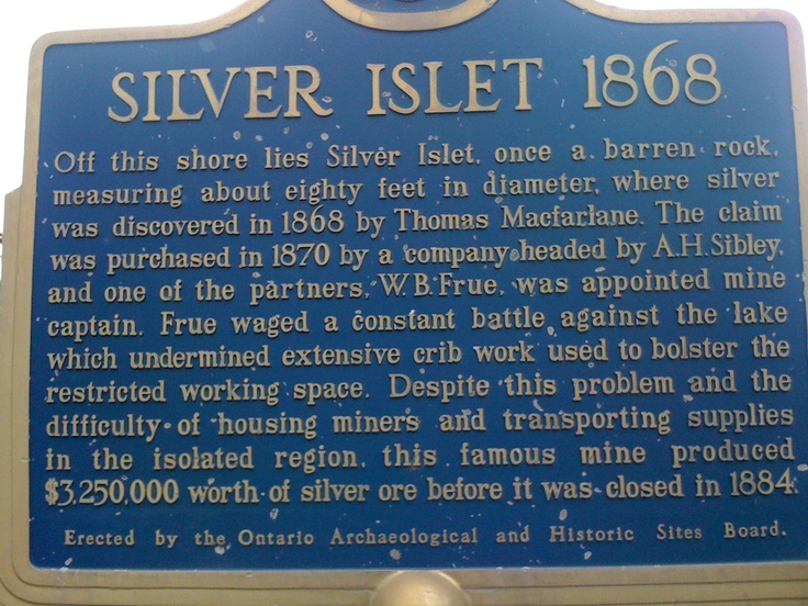 Silver Islet, once the richest silver mine in the world. Its one of our sailing destinations.