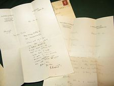 Edwin Lutyens architect autograph letters & 2 from wife - her suffragette sister