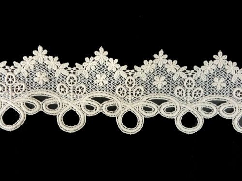 Sewing Material for Clothes Cotton Chemical Motive Lace (008) 1yard   #KoreaDesignerShop