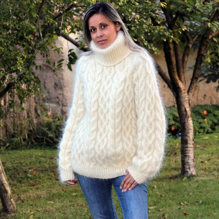 https://extravagantza.com/hand-knit-mohair-sweater/60-cable-hand-knit-mohair-sweater-white-fuzzy-turtleneck.html