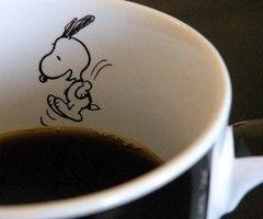 Snoopy en mi café....