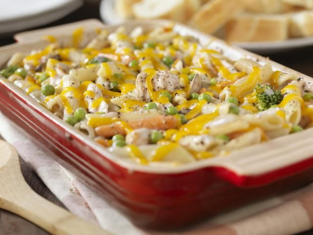 This super easy and delicious Ziti Chicken Casserole main dish recipe uses only five ingredients.
