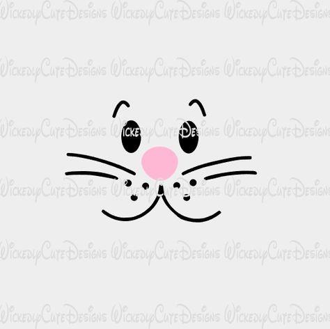 Boy Bunny Rabbit Face SVG, DXF, EPS, PNG Digital File