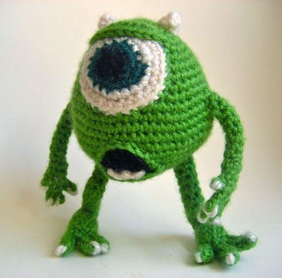 Amigurumi Mike Wazowski Doll from Monsters Inc  by BelleAmiCrochet, $40.00