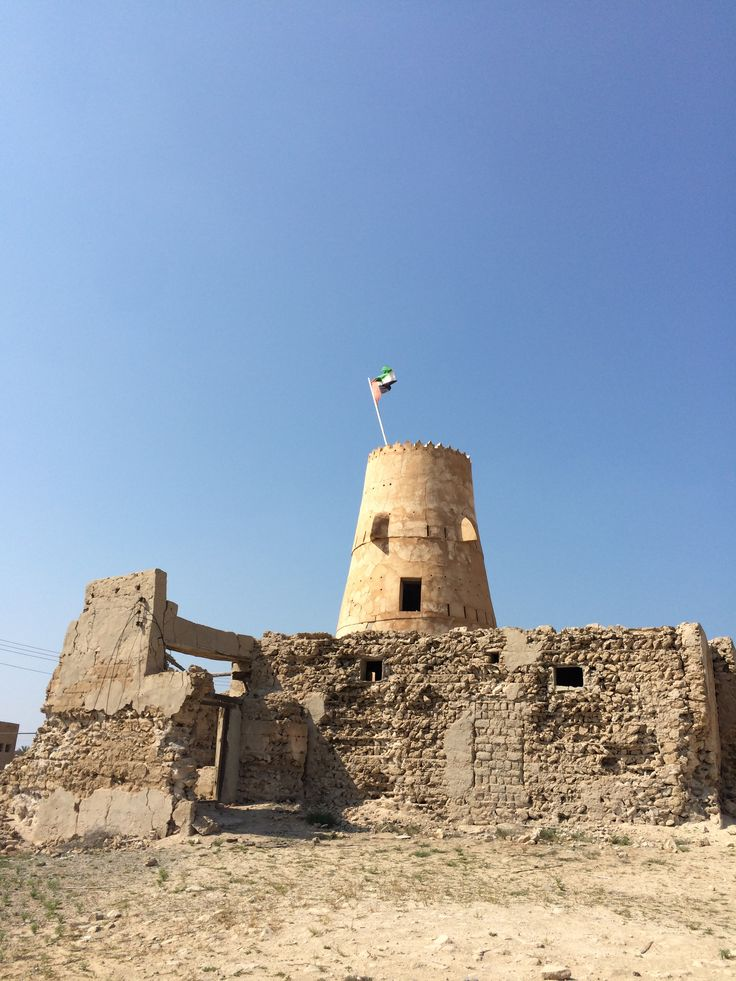 Old ruin of fort in Jazeera Humrah abandoned city