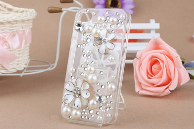 Custodia Cover Bling 3D Crystal Iphone 5 trasparente + pellicola anti graffio