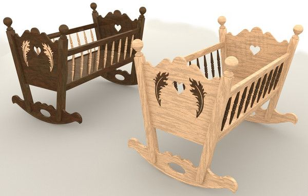 rocking baby cradle 3ds ROCKING BABY CRADLE... by N