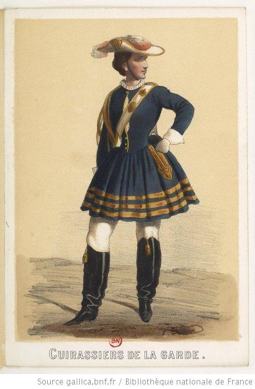 Costumes militaires français, 1856-1860 Vivandières