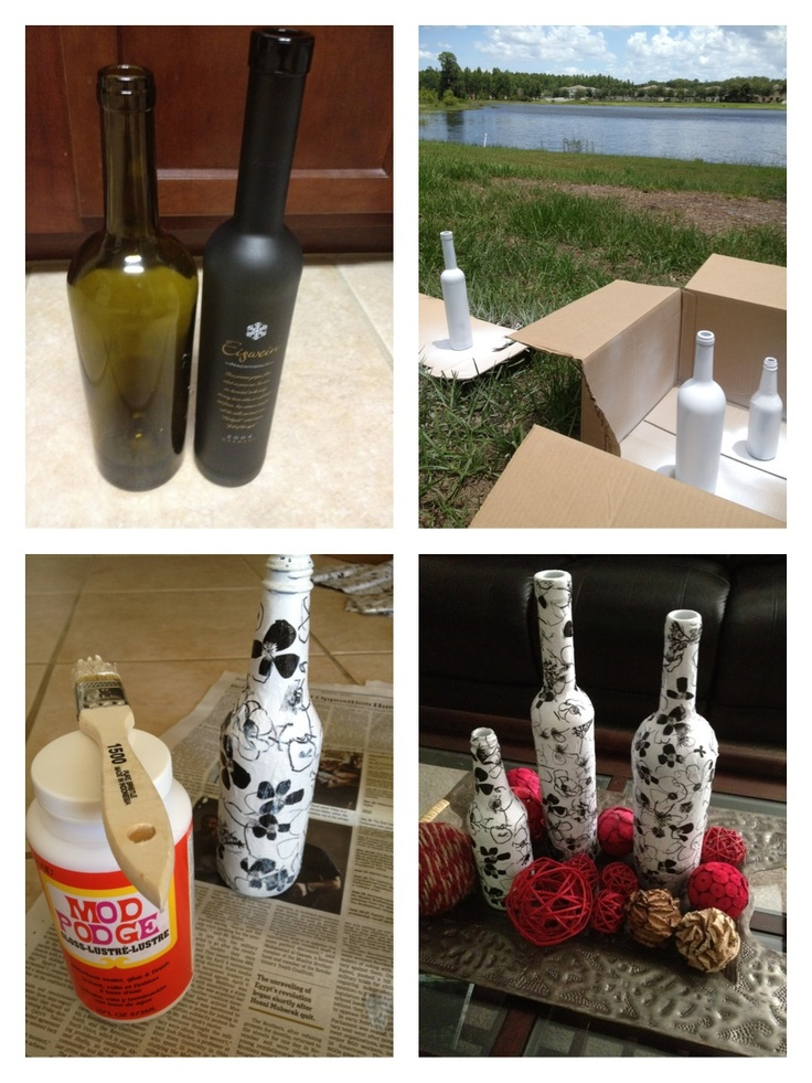238 best images about make it with mod podge on pinterest for Wine bottle arts and crafts