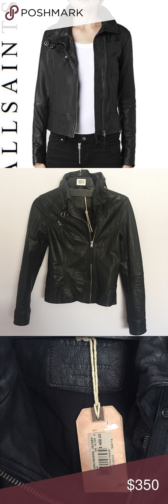 All saints leather jacket I don't want to part with this