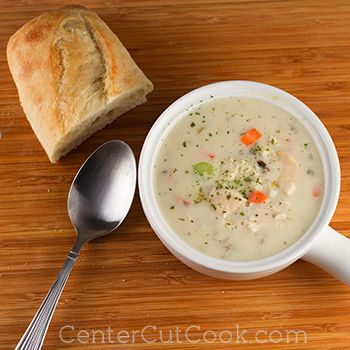 Cream of Chicken and Wild Rice Soup {slow cooker} ... my fave!