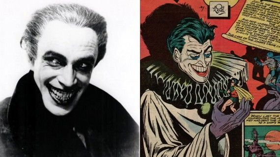 Conrad Veidt in The Man Who Laughs and The Joker 1941 570x320 Real Life Inspirations Behind Some of the Best Comic Book Villains