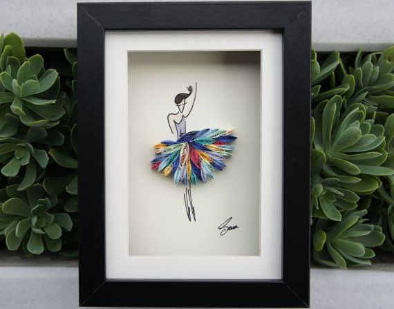 """Quilled Paper Art: """"I wanna dance with somebody"""" by SenaRuna   This quilling is created and designed by SenaRuna, please just like/share them and create your own way:)"""