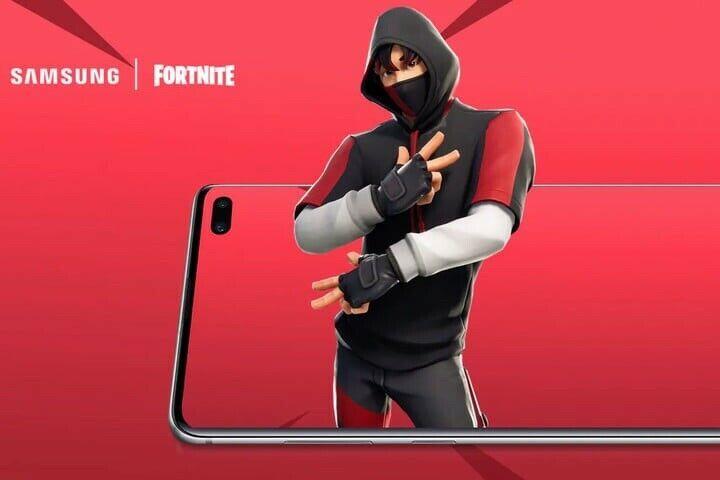 Epic Games Fortnite Rare Ikonik K Pop Skin Set Samsung S10 Redemption Fortnite Uk Game Fortnite Samsung Samsung Galaxy