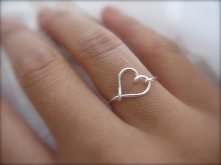 Loveeee!!!  Valentines Day  Silver Heart Ring by DesignedByLei