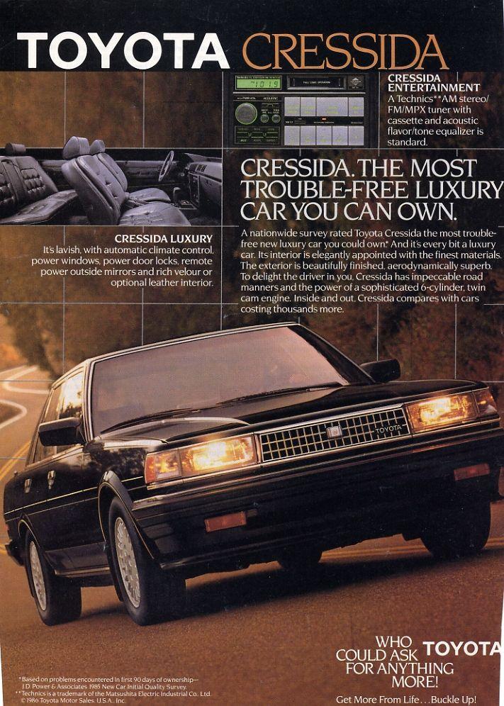 COAL: 1986 Toyota Cressida – Stately Elegance