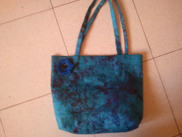 handsewn African fabric bag