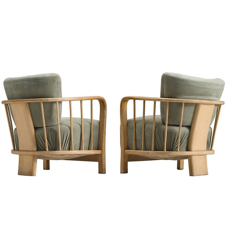 Midcentury Set of Two Sculptural Lounge Chairs