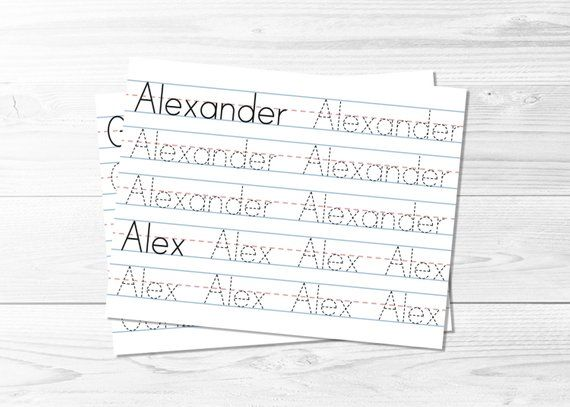 personalized name tracing book