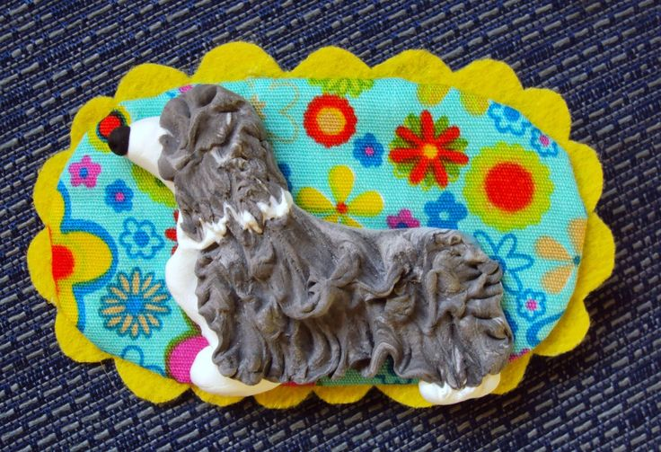 si vous voulez podeis: Broche de Collie Barbudo ó Bearded Collie