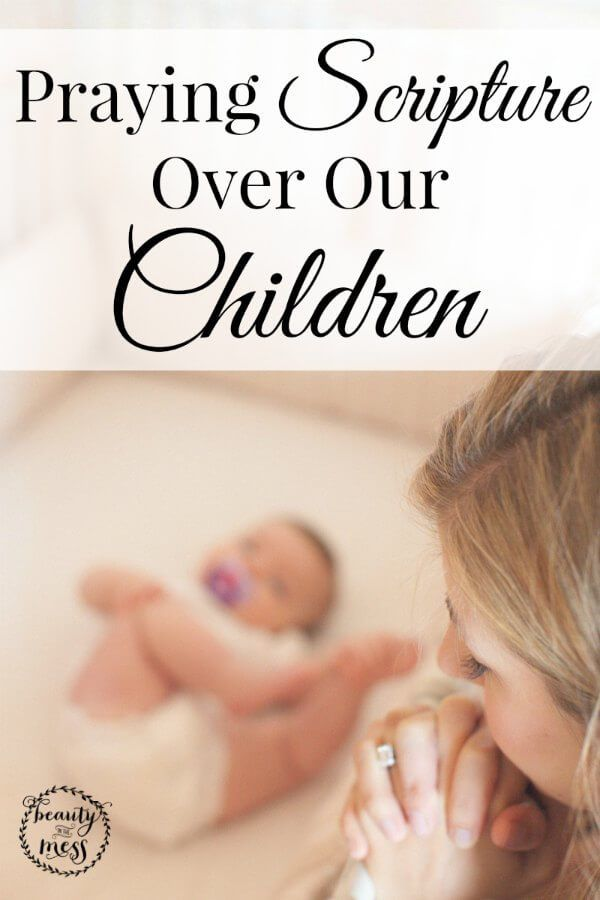 Praying Scripture Over Our Children.  Do you pray Scripture over your children? Our children need to have God's Word hidden in their hearts...