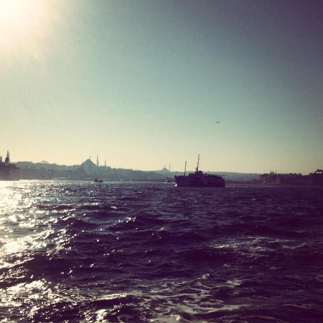 Ferry ride across the Bosphorus, Istanbul