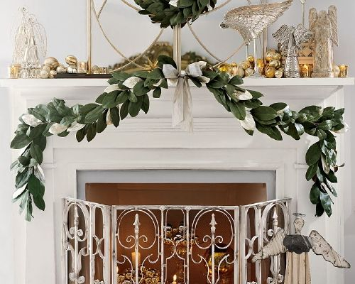 Holiday Décor for the Fireplace @KitchenAidUSA #HolidayEats @RoniqueGibson