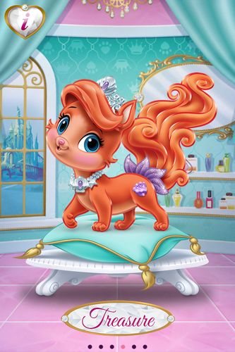 Disney Princess Palace Pets - Ariel's kitten  Treasure's pretty, too. Love her tail. She's got the Ariel/Dixie (Fox & the Hound 2) swoop of topknot hair, too! 8-)