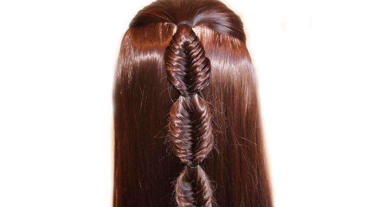 Коса Рыбий хвост❤Плетение кос❤Причёска для средних/длинных волос, причёс...