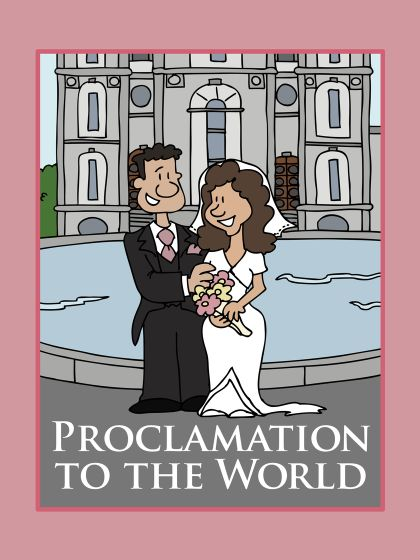Free downloadable PDF Coloring Book on Proclamation to the World