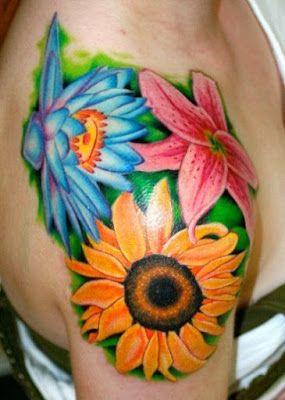 flores- tatuadas-diseños-coloridos