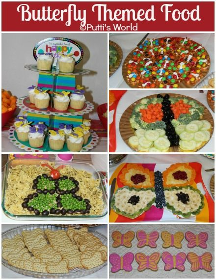 Butterfly themed foods