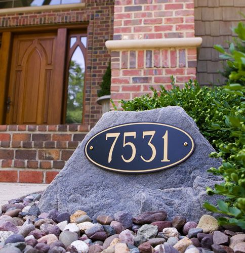 Faux Rock With Address In Landscaping Central Florida