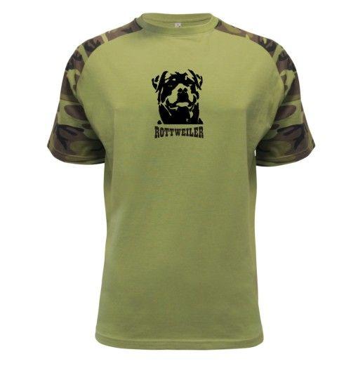 trička   Trička se psy   Rotvejler - military   samolepky na zeď, na auta, potisk triček, tuning samolepky, WallArt , Geocaching