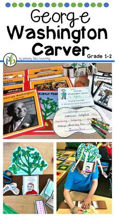 Black History Month (or any time of year) comes to life for first and second graders as they learn about George Washington Carver and how he dedicated his life to making the lives of others better.  This social studies unit engages students in reading, writing, and craft activities. Click to learn more.