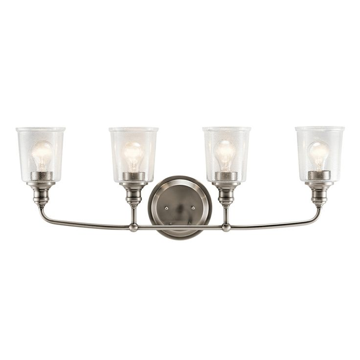 Kichler Waverly 4-Light 11.75-in Classic Pewter Cylinder Vanity Light Bar