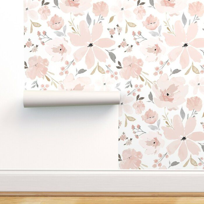 Pin By Abbey Cook Sarvis On Baby Girl Floral Wallpaper Peel And Stick Wallpaper Floral