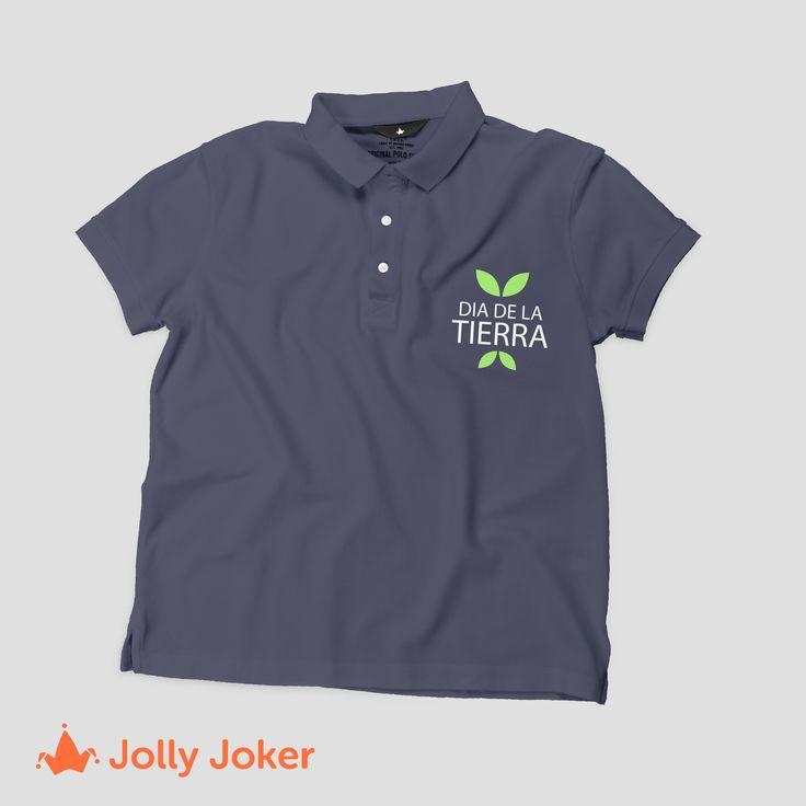 Diseña y crea tus camisetas del día de la tierra, en el producto que más te guste, camiseta polo, cuello en V o redondo!