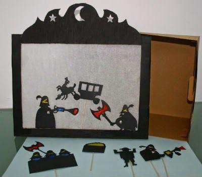 El Club dels Petits Lectors: DIY: fem un teatre d'ombres per representar el llibre infantil Els tres bandits - Diy para hacer un teatro de sombras