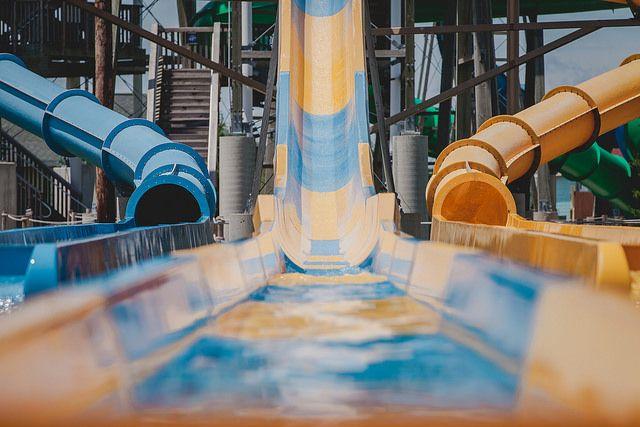 Raging Waves Waterpark Tasmanian Twister ride.