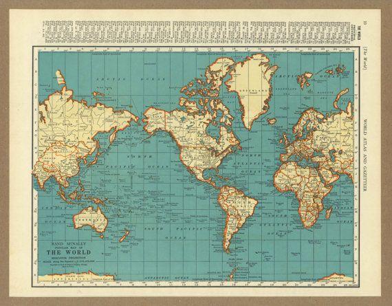 110 best Vintage Maps images on Pinterest Maps, Antique maps and - new antique world map images